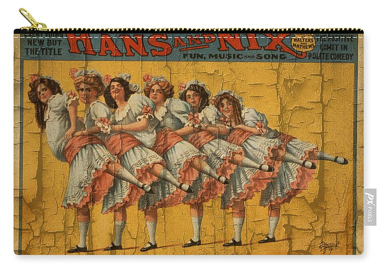 Hans And Nix Carry-all Pouch featuring the digital art The Dancing Chicks by Ericamaxine Price