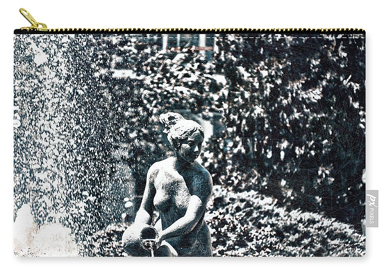 Details Carry-all Pouch featuring the photograph The Daughter Brings The Water by Rabiri Us