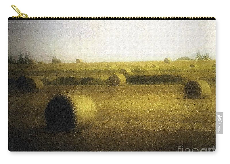 Field Carry-all Pouch featuring the painting The Dawning by RC DeWinter