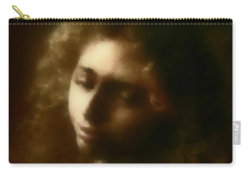 Girl Carry-all Pouch featuring the painting The Daydream by RC deWinter