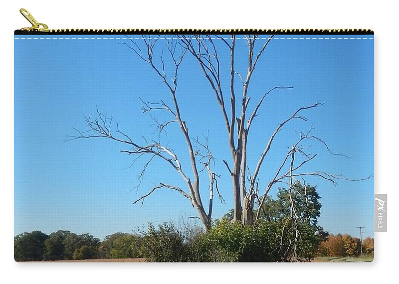 Graceful Carry-all Pouch featuring the photograph The Dead Tree by Susan Wyman