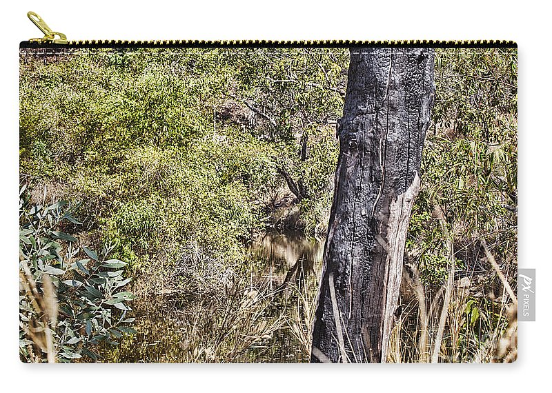 Death Carry-all Pouch featuring the photograph The Death Of A Tree V4 by Douglas Barnard