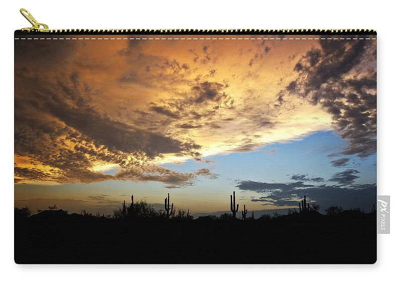 Skyscape Carry-all Pouch featuring the photograph The Desert Sky by Saija Lehtonen