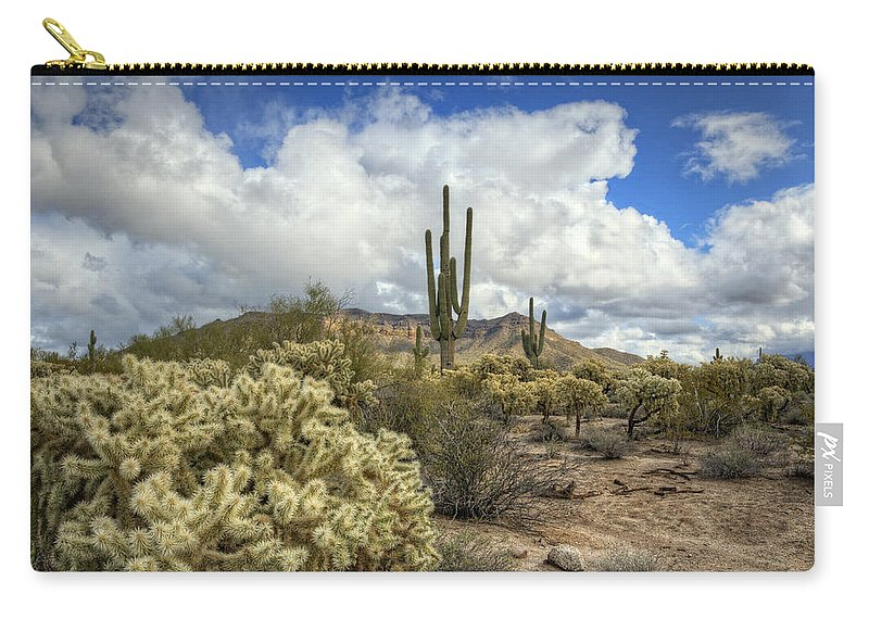 Arizona Carry-all Pouch featuring the photograph The Desert Southwest by Saija Lehtonen
