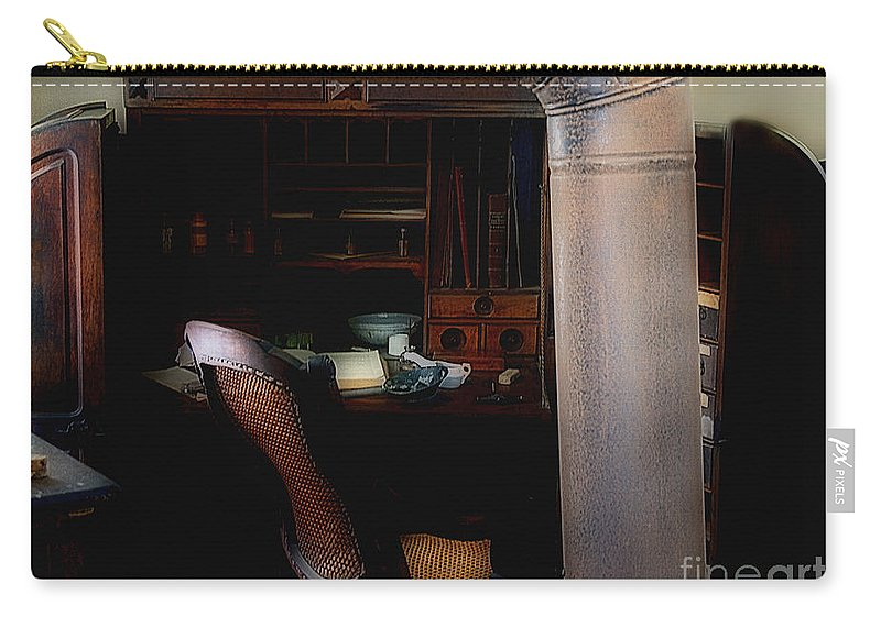 Antiques Carry-all Pouch featuring the painting The Doctor Is Out by RC DeWinter