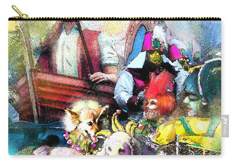 New Orleans Carry-all Pouch featuring the painting The Dogs Parade In New Orleans by Miki De Goodaboom