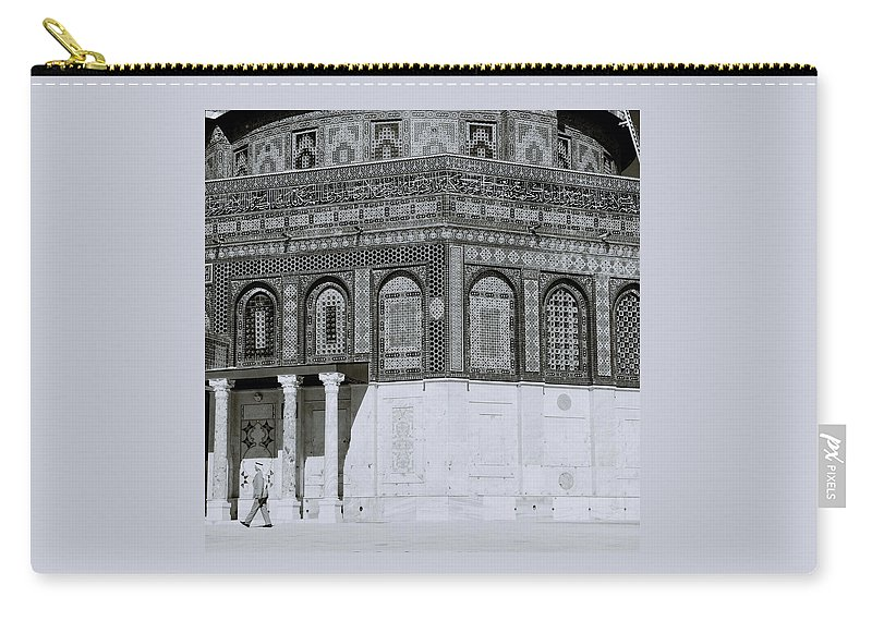 Jerusalem Carry-all Pouch featuring the photograph The Dome Of The Rock by Shaun Higson