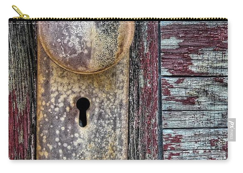 Door Carry-all Pouch featuring the photograph The Door Knob by Ken Smith