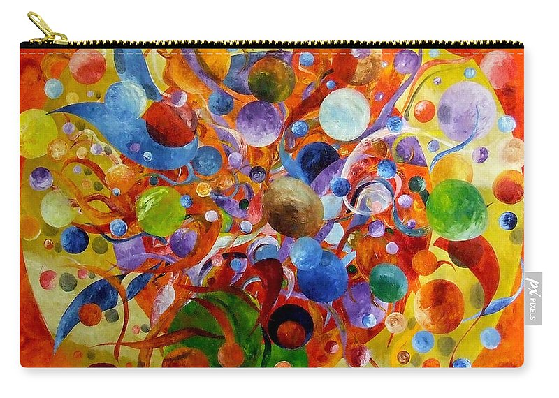 Orbs Carry-all Pouch featuring the painting The Dragon by Bert Munoz