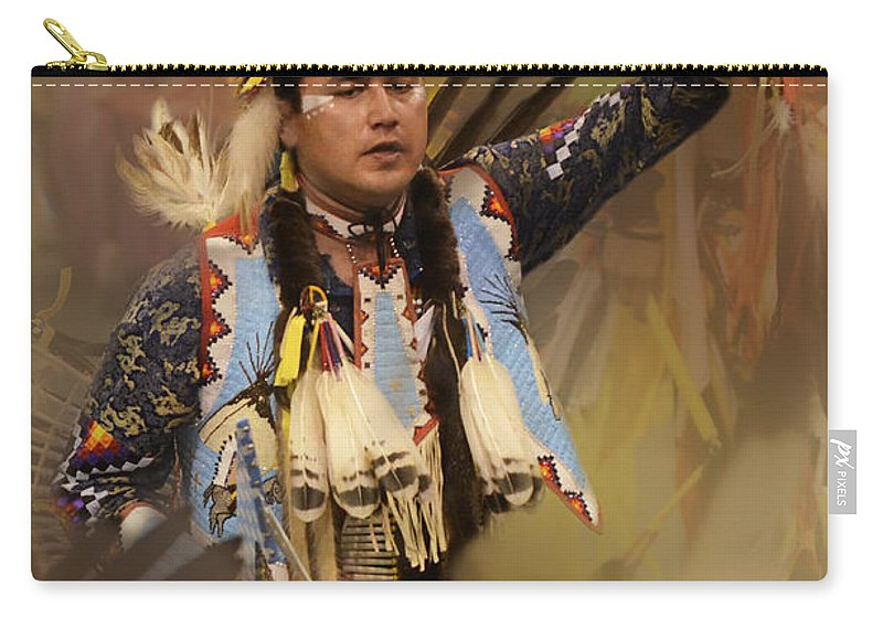 Pow Wow Carry-all Pouch featuring the photograph Pow Wow The Dream by Bob Christopher