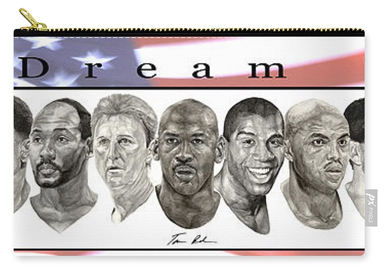 The Dream Team Carry-all Pouch featuring the painting the Dream Team by Tamir Barkan