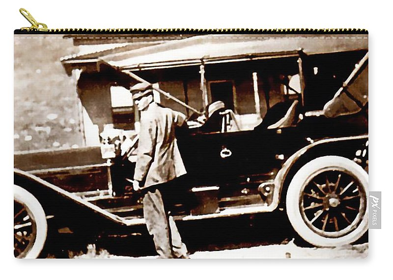 Vintage Carry-all Pouch featuring the photograph The Driver by Image Takers Photography LLC