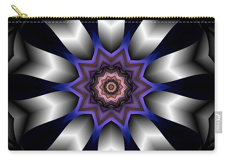 Kaleidoscope Carry-all Pouch featuring the digital art The Drowning Pool by Michael Damiani