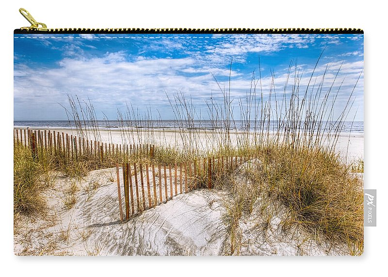 Clouds Carry-all Pouch featuring the photograph The Dunes by Debra and Dave Vanderlaan