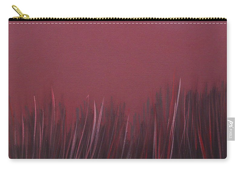 Landscape Carry-all Pouch featuring the painting The dusk by Sergey Bezhinets