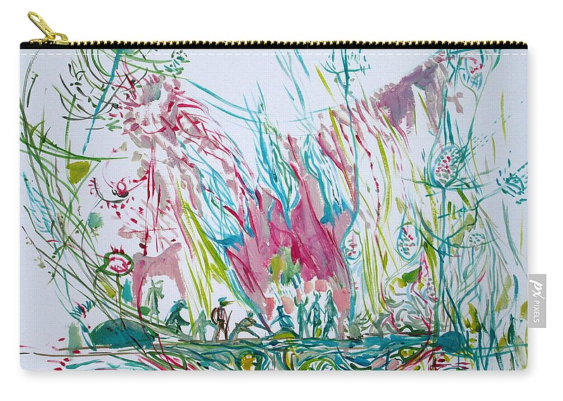 People Carry-all Pouch featuring the painting The Dwellers by Fabrizio Cassetta