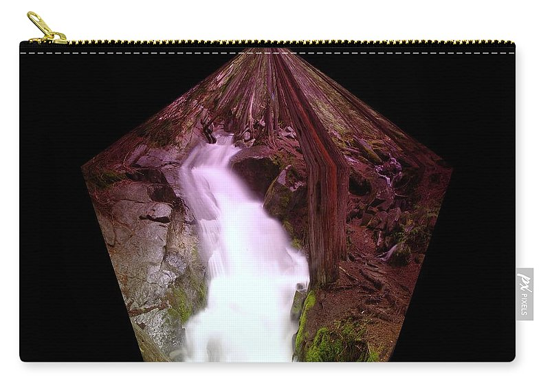 Waterfalls Carry-all Pouch featuring the photograph The End Of Silver Falls by Jeff Swan
