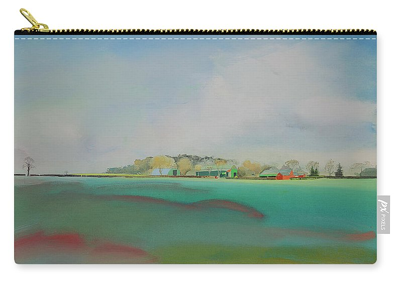 Landscape Carry-all Pouch featuring the painting The English Farm  A Break In The Cloud by Charles Stuart
