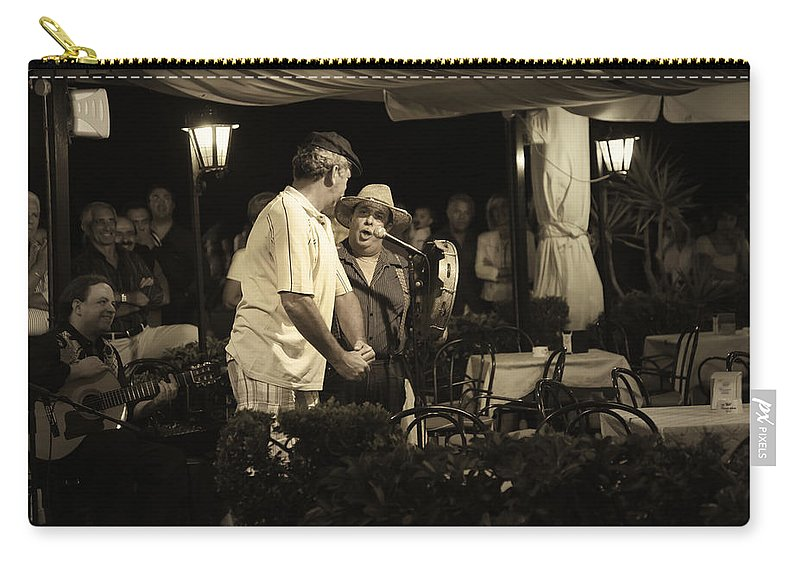 Music Carry-all Pouch featuring the photograph The Entertainers by Madeline Ellis