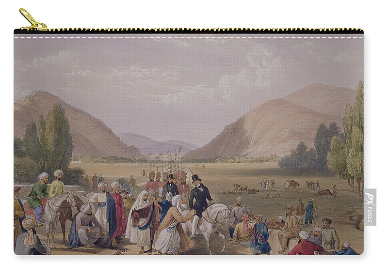 Kabul Carry-all Pouch featuring the drawing The Entrance Into Caubul by James Atkinson