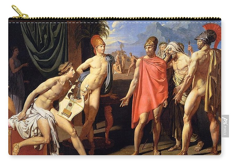 1801 Carry-all Pouch featuring the painting The Envoys Of Agamemnon by Jean-Auguste-Dominique Ingres