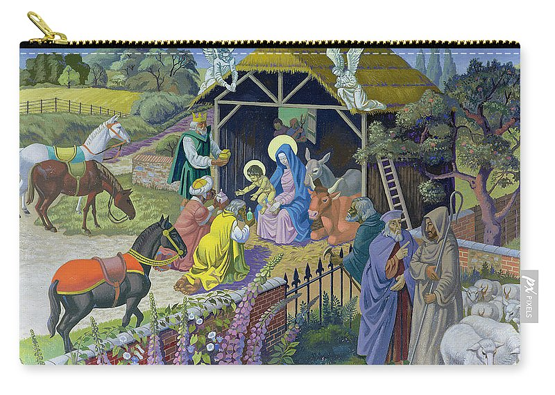 Modern Carry-all Pouch featuring the painting The Epiphany, 1987 by Osmund Caine
