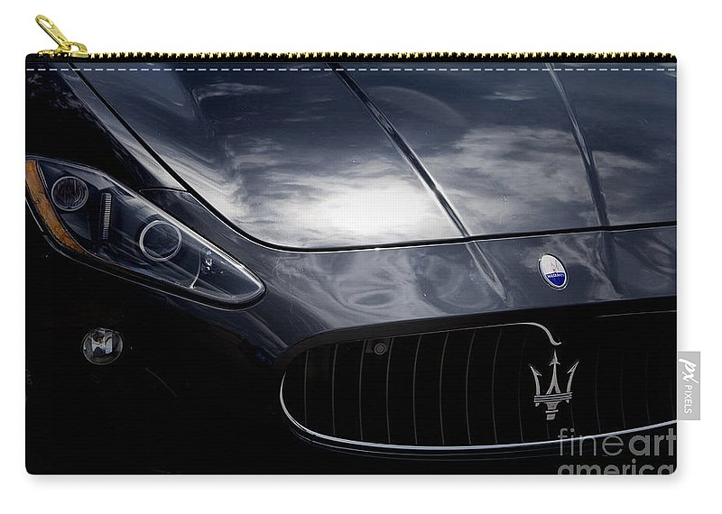 Maserati Carry-all Pouch featuring the photograph The Essence Of Maserati by Douglas Barnard