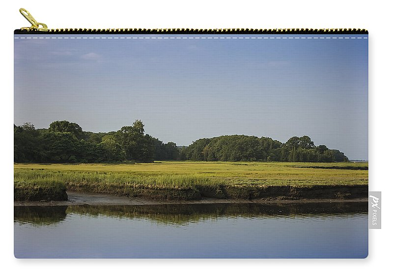 Essex Carry-all Pouch featuring the photograph The Essex Marsh by David Stone