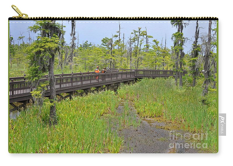 Texas Welcome Center Carry-all Pouch featuring the photograph The Everglades Of Texas by Lydia Holly