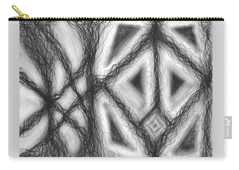 Black Carry-all Pouch featuring the digital art The Expansion Of Energy Is Everywhere by Daina White