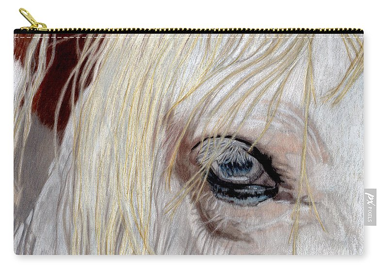 White Carry-all Pouch featuring the painting The Eye Has It by Gail Seufferlein