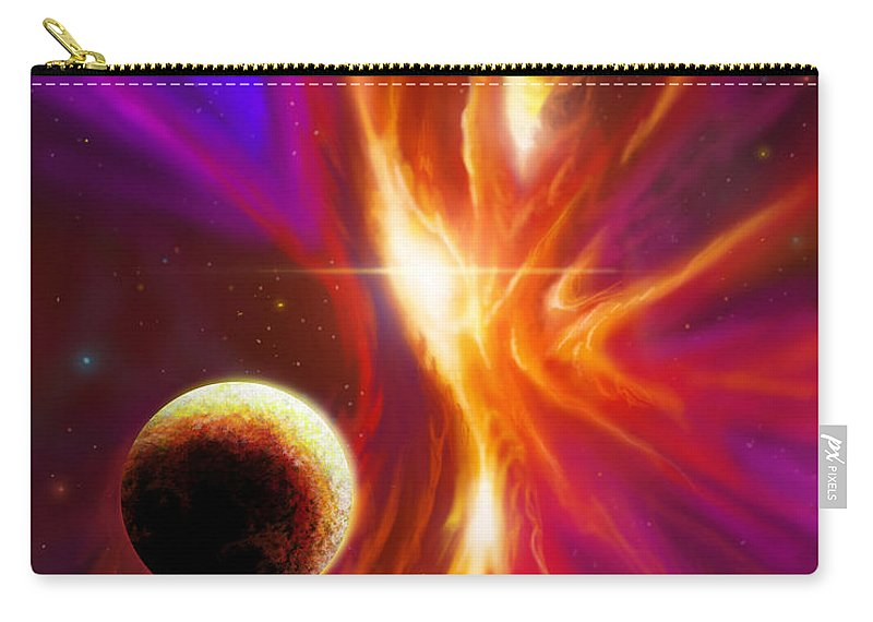 Sunrise Carry-all Pouch featuring the painting The Eye Of God by James Christopher Hill
