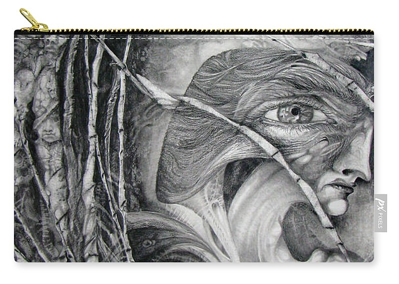 Fomorii Carry-all Pouch featuring the drawing The Eye Of The Fomorii - Regrouping For The Battle by Otto Rapp