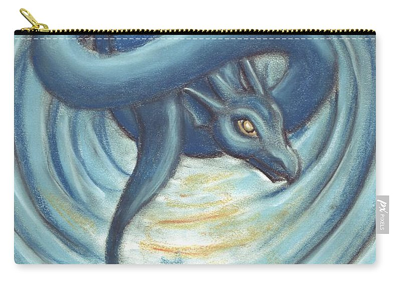 Eye Carry-all Pouch featuring the pastel The Eye Of The Storm by Samantha Geernaert