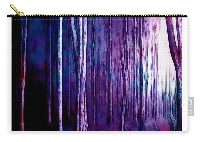 Forest Carry-all Pouch featuring the painting The Fairy Tale Forest by Steve K