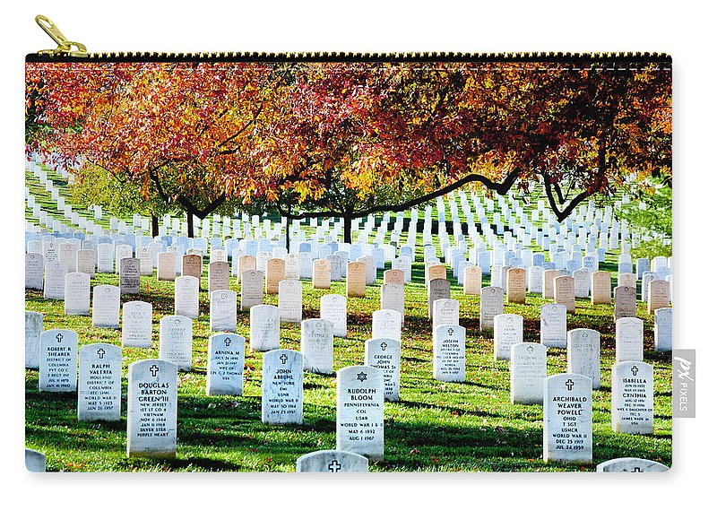 Arlington Cemetery Carry-all Pouch featuring the photograph The Fall by Greg Fortier