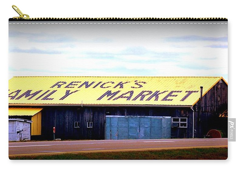 Market Carry-all Pouch featuring the photograph The Family Market by Scott Polley