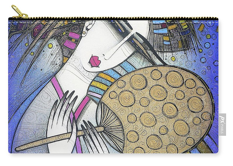 Violet Carry-all Pouch featuring the painting The Fan by Albena Vatcheva