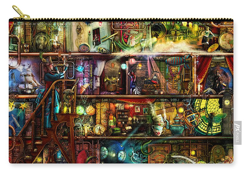Aimee Stewart Carry-all Pouch featuring the digital art The Fantastic Voyage by MGL Meiklejohn Graphics Licensing