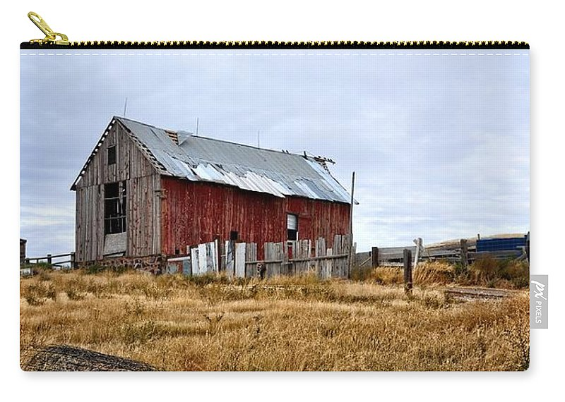 Barn Carry-all Pouch featuring the photograph The Farm by Image Takers Photography LLC