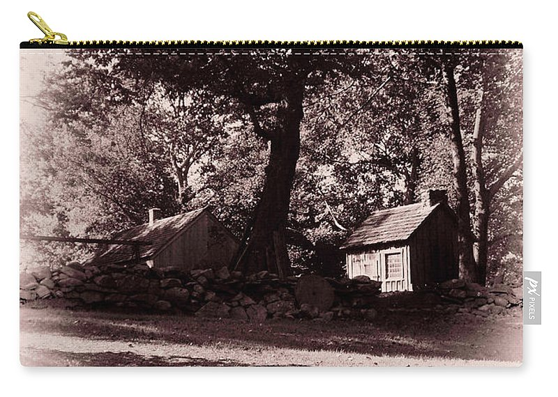 Black And White Carry-all Pouch featuring the photograph The Farm Bristol Rhode Island by Tom Prendergast