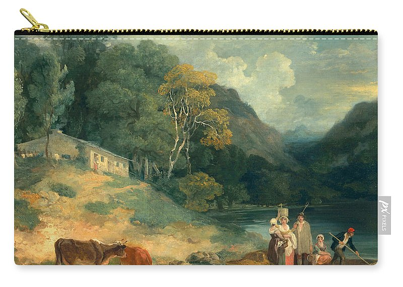 Land Carry-all Pouch featuring the painting The Ferry by Francis Wheatley