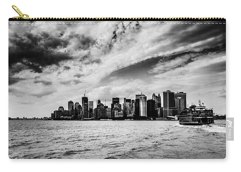 Ferry Carry-all Pouch featuring the photograph The Ferry To Manhattan by Hakon Soreide