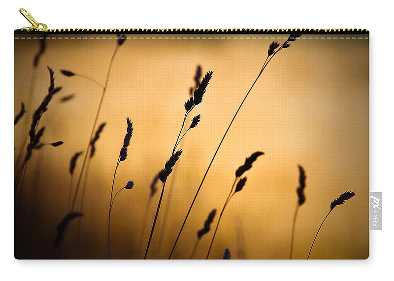 Filed At Sunset Carry-all Pouch featuring the photograph The Field by Dave Bowman
