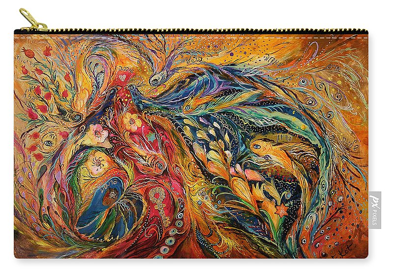 Original Carry-all Pouch featuring the painting The Fire Dance by Elena Kotliarker