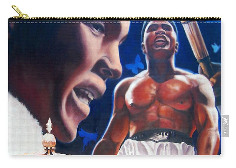 Portrait Carry-all Pouch featuring the painting The Fire The Sting The King by Jerome White