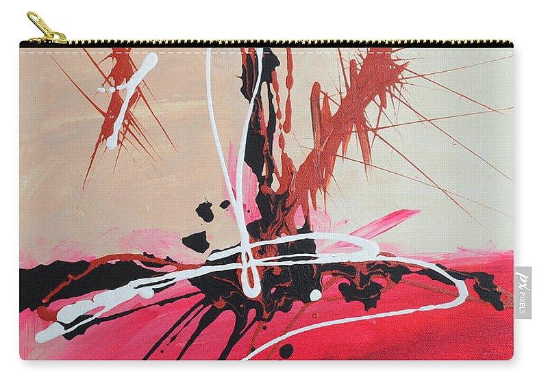 Acrylic Carry-all Pouch featuring the painting The Fire Within Coming Out by Paulette B Wright