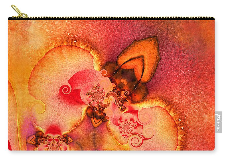 Fractal Carry-all Pouch featuring the painting The First Flower by Miki De Goodaboom