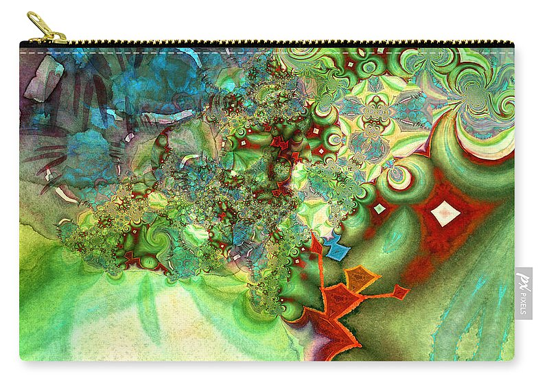 Fractal Carry-all Pouch featuring the painting The First Man by Miki De Goodaboom