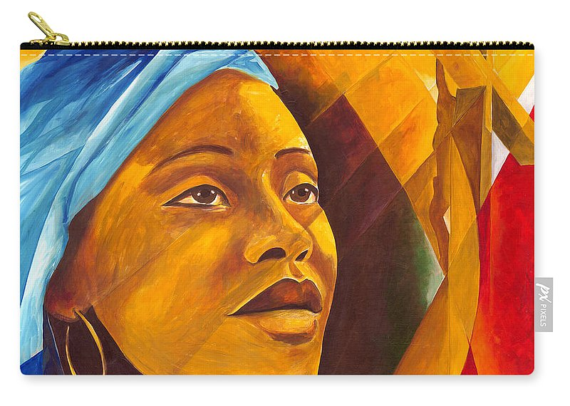 Female Carry-all Pouch featuring the painting The First Mother by Patricia Brintle